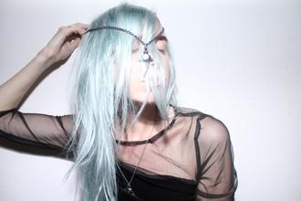 jewels hair dye tie dye blue pastel faded green pastel hair