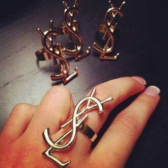 jewels ysl ring jewelry cuff brand gold