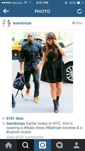 kim kardashian black dress