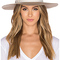 Hat attack xl glam hat in taupe & ivory bow from revolveclothing.com