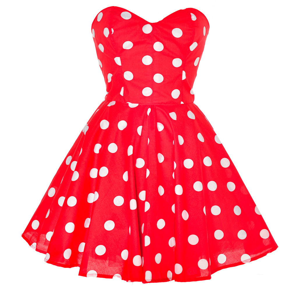 Red Polka Dot Party Dress   Style Icon`s Closet