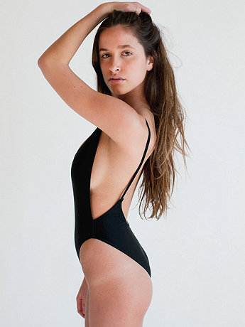 The Nylon Tricot High-Cut One-Piece | American Apparel
