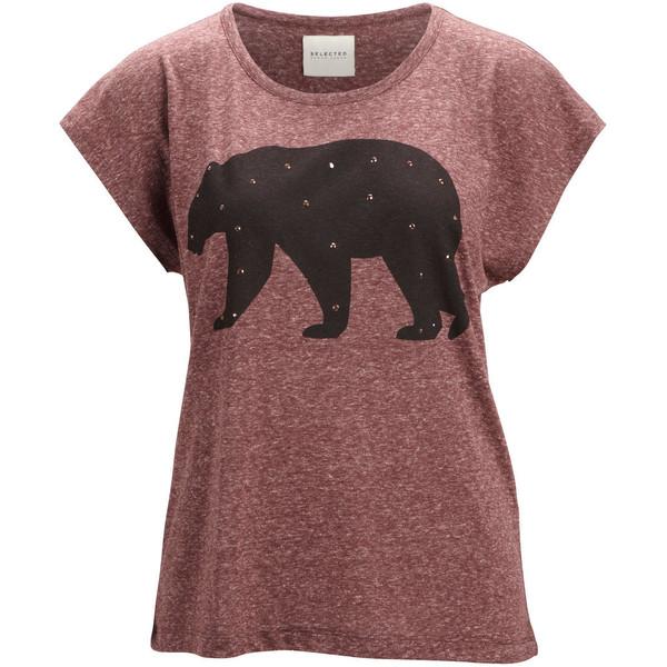 Selected Bear S/S Tee Fj - Polyvore