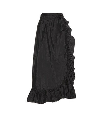 skirt wrap skirt silk black