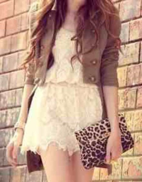 dress white dress amazing short peri.marie coat