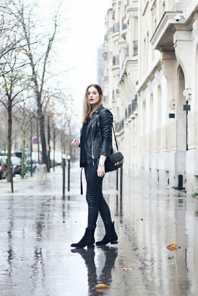 moderosa blogger jacket pants top bag shoes