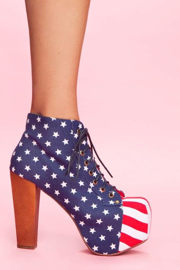 Lita Platform Boot - American Flag at Nasty Gal