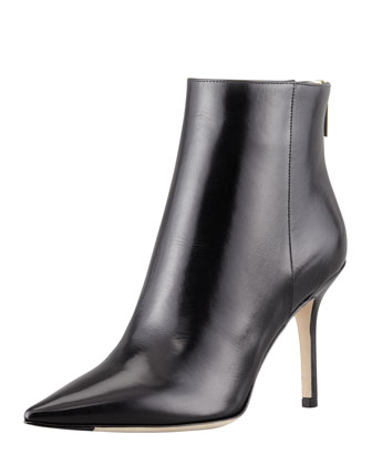 Jimmy Choo Amore Pointed-Toe Ankle Boot, Black - Neiman Marcus