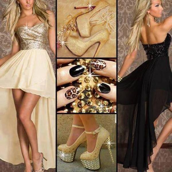 dress gold gold sequins glitter dress glitter shoes beautiful cute dress cute wanted