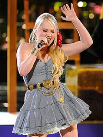 belt the voice raelynn gold heart country dress