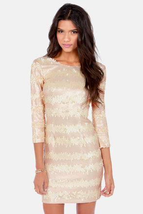 Sexy Sequin Dress - Bodycon Dress - Cocktail Dress - $105.00