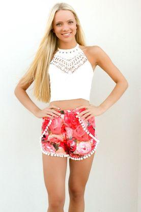 Rose Fusion Shorts - Jada Blue