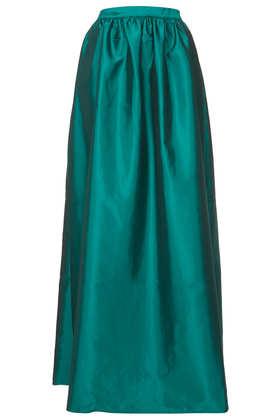 Green Full Satin Maxi Skirt - Topshop