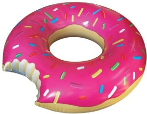 Amazon.com : Big Mouth Toys Gigantic Donut Pool Float : Novelty And Amusement Toys : Toys & Games