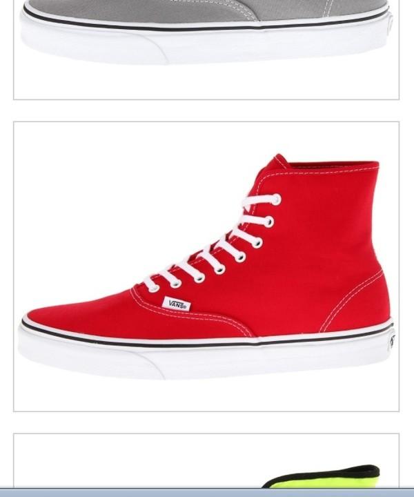 shoes red vans hightopsglitter