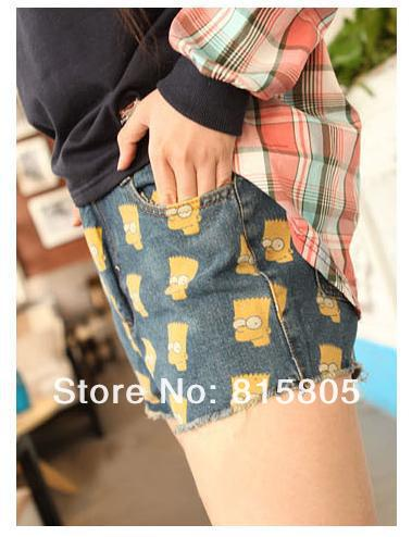 Free shoping Fashion women Simpson fringed denim shorts TB 3090-in Shorts from Apparel & Accessories on Aliexpress.com