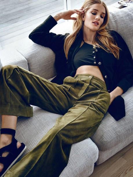 rosie huntington-whiteley wide-leg pants