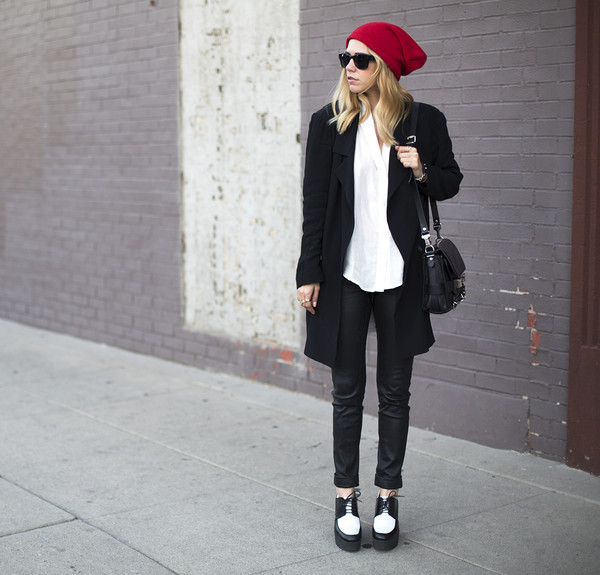 always judging hat blouse jacket pants sunglasses jewels shoes bag