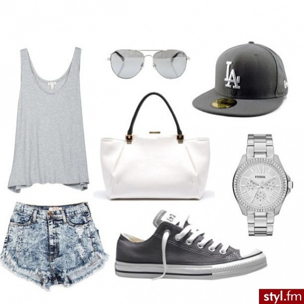 shorts cap shoes watch bag sunglasses t-shirt black white converse acid wash shirt