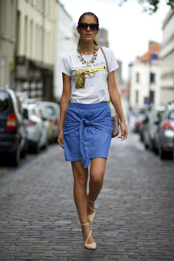 from brussels with love t-shirt skirt shoes bag jewels