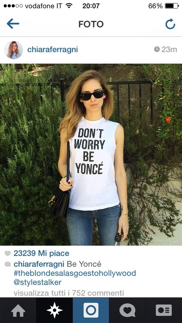 shirt chiara ferragni t-shirt tank top fashion