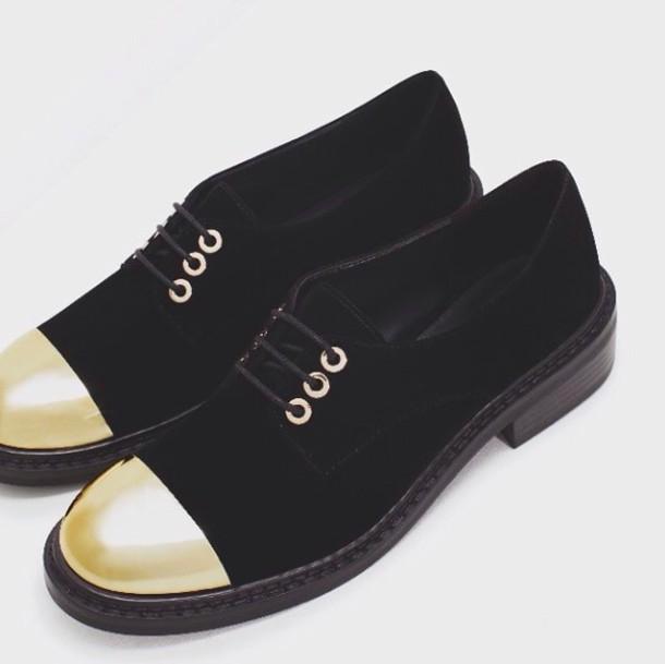 shoes black gold black shoes footwear gold detail velvet velvet shoes noir moccasins black moccasins formal boyish elegant