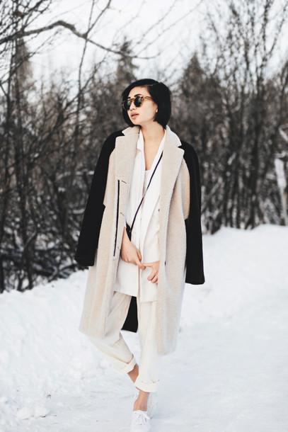 ordinary people blogger pants winter coat