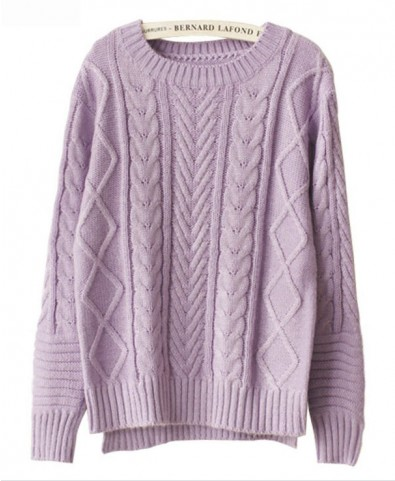 High Low Hem Cable- Knit Knitwear - Knit Tops - Pullover - Knitwear - Tops - Clothing