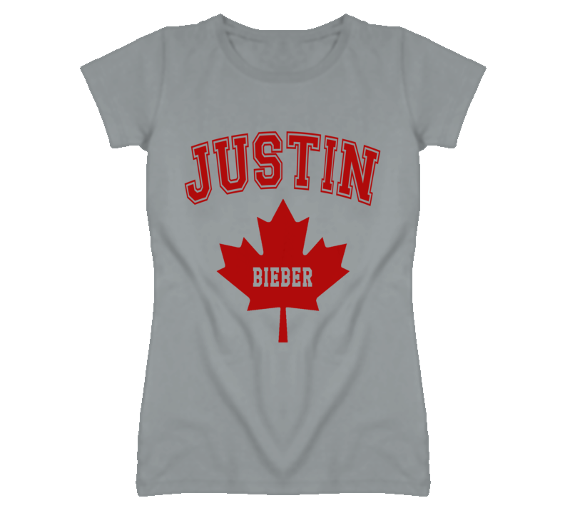 Justin Bieber Canadian Maple Leaf Graphic T Shirt