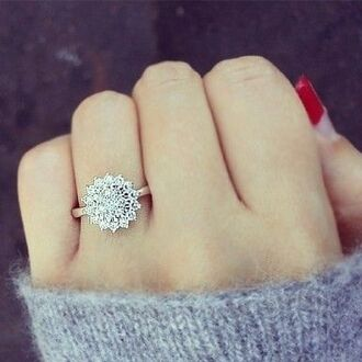 jewels ring engagement ring jewelry snowflake pll ice ball valentines day gift idea diamonds snow flower ring sunglasses rings and tings wedding ring bling