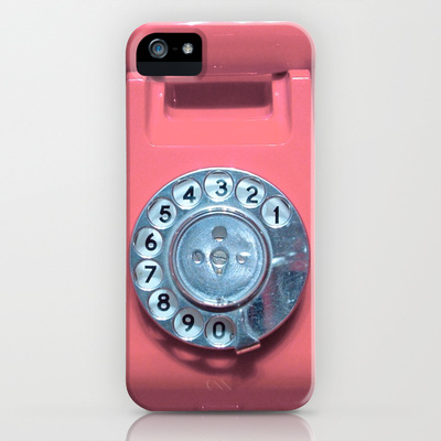 OLD PHONE - SOFT PINK EDITION for Iphone iPhone & iPod Case by Simone Morana Cyla | Society6