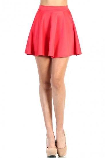 LoveMelrose.com From Harry & Molly | Skater Skirt - Coral