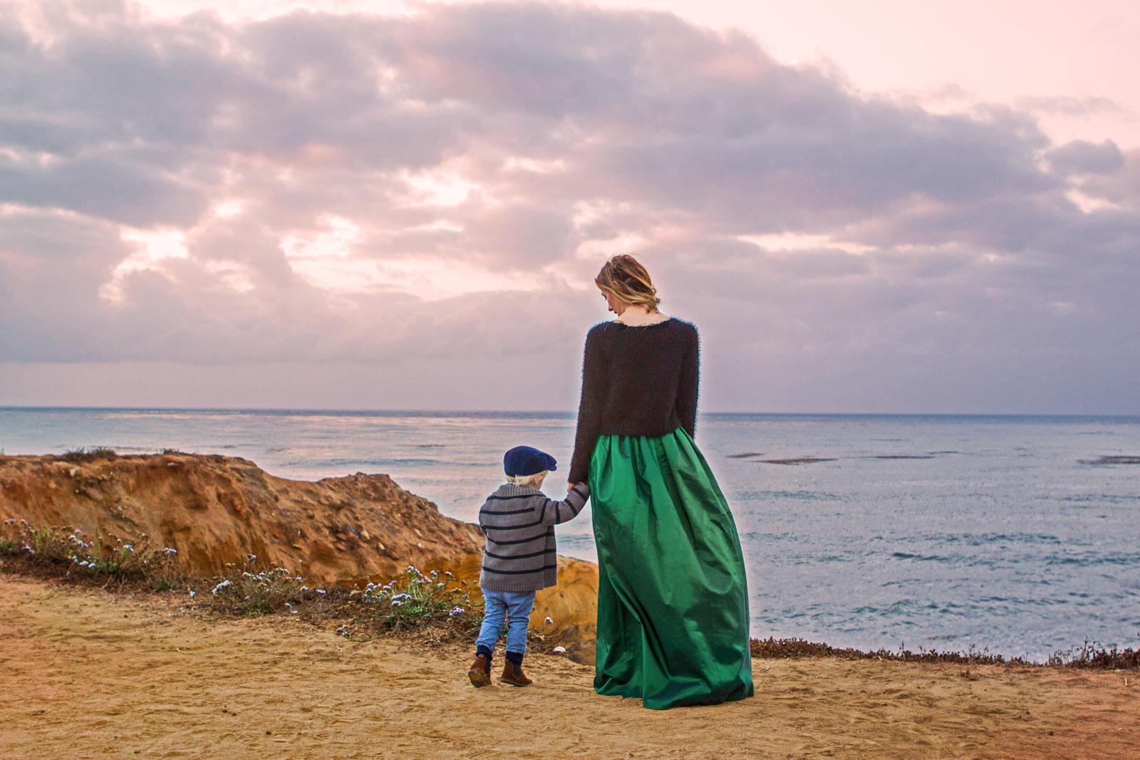 """The """"Mrs."""" Maxi Skirt – Emerald   Bel & Beau Shop"""