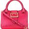 Burberry buckled frame tote, women's, red, calf leather