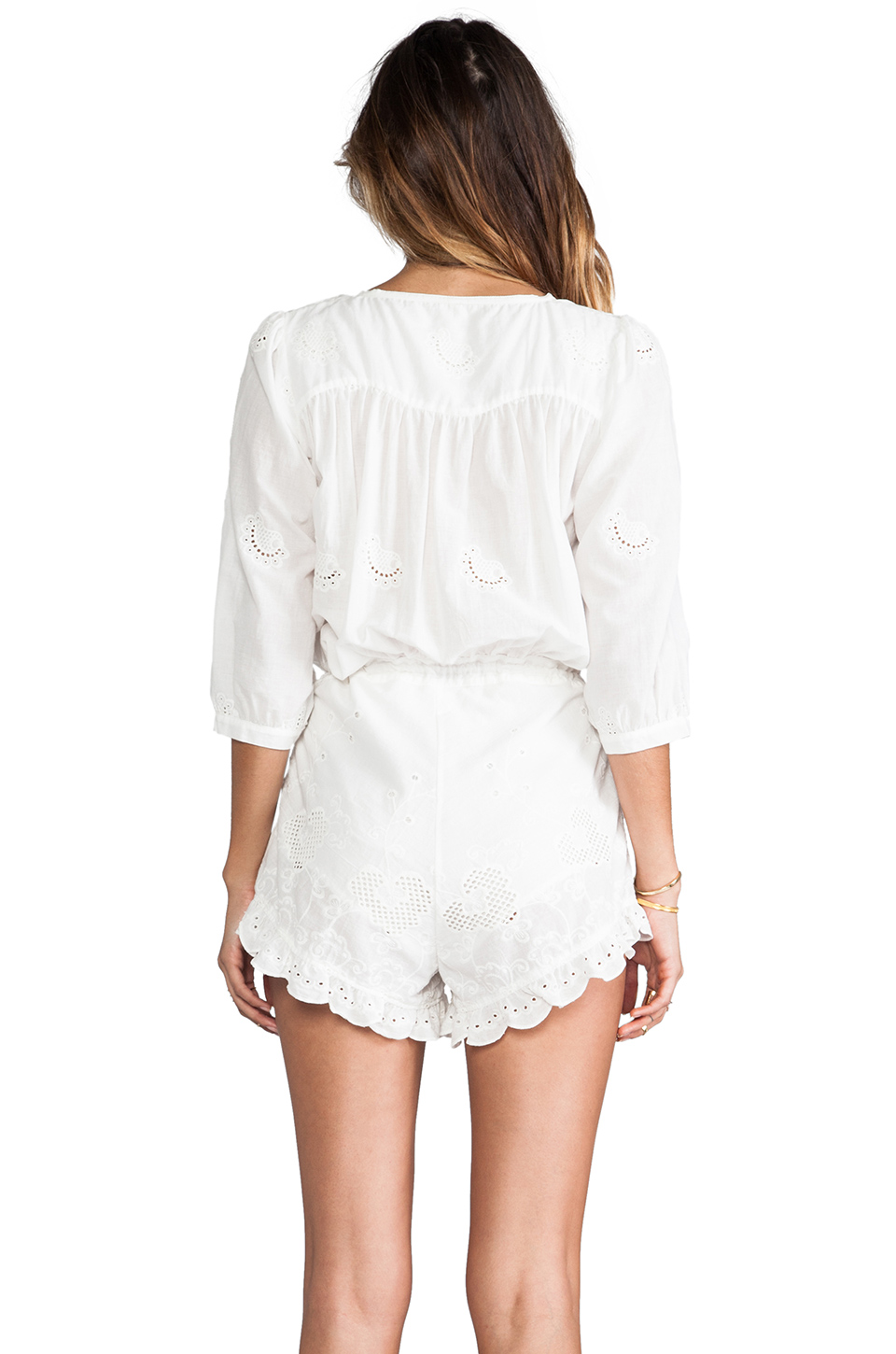 Spell & The Gypsy Collective Indian Summer Playsuit in White | REVOLVE