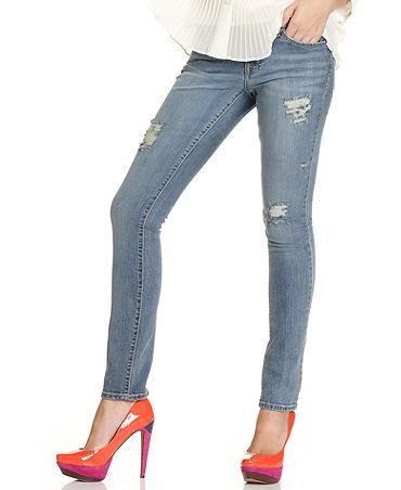 Jessica Simpson Juniors Jeans, Skinny Ripped Medium Wash - Jeans - Women - Macy's