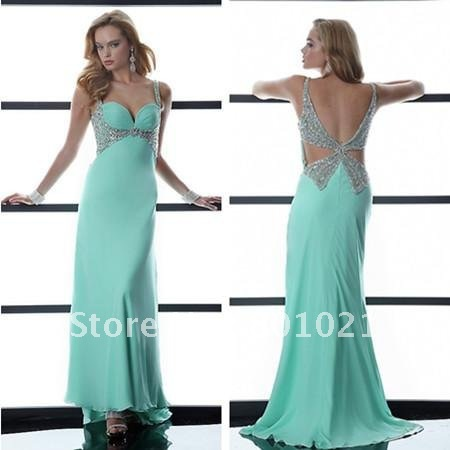 Free Shipping/Long Open Back Sequin Sweetheart Strap Couture Dress plus size prom dresses under 100-in Prom Dresses from Apparel & Accessories on Aliexpress.com