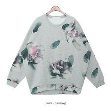 Vintage Shading Splash INK Flowers Crewneck Fleece Sweatshirt Hoody TOP 2 Color | eBay