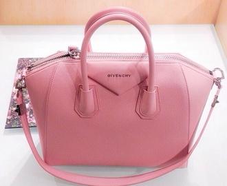 bag pretty cute elegant designer leather leather bag baby pink givenchy pink pink purse money handbag clutch hot