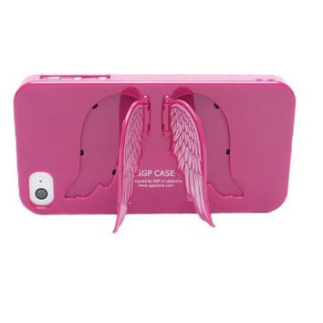 Angel Wings Stand Hard Case Cover for Iphone 4 and 4S - Violet Pink on Wanelo