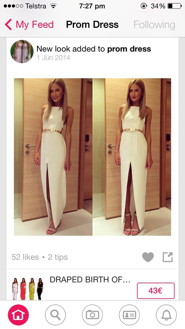 dress prom dress formal dress long dress white