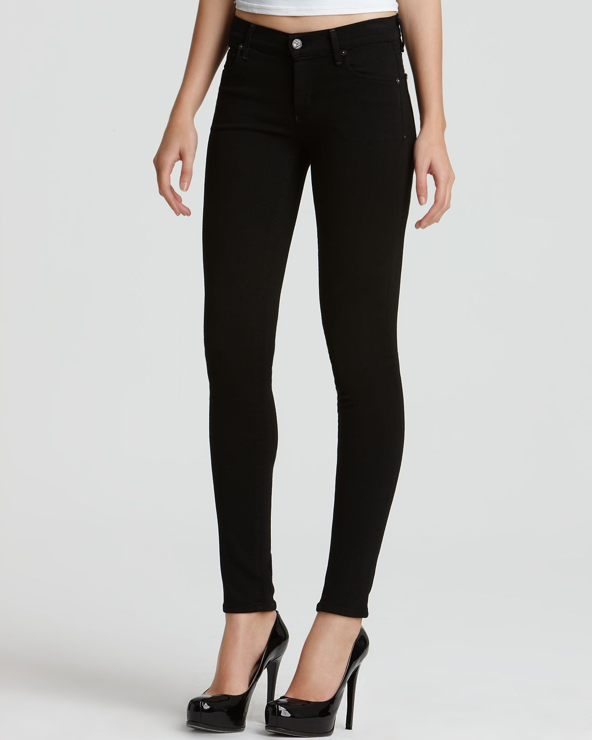 "Citizens of Humanity ""Avedon"" Super Stretch Denim Leggings in Axel Wash 
