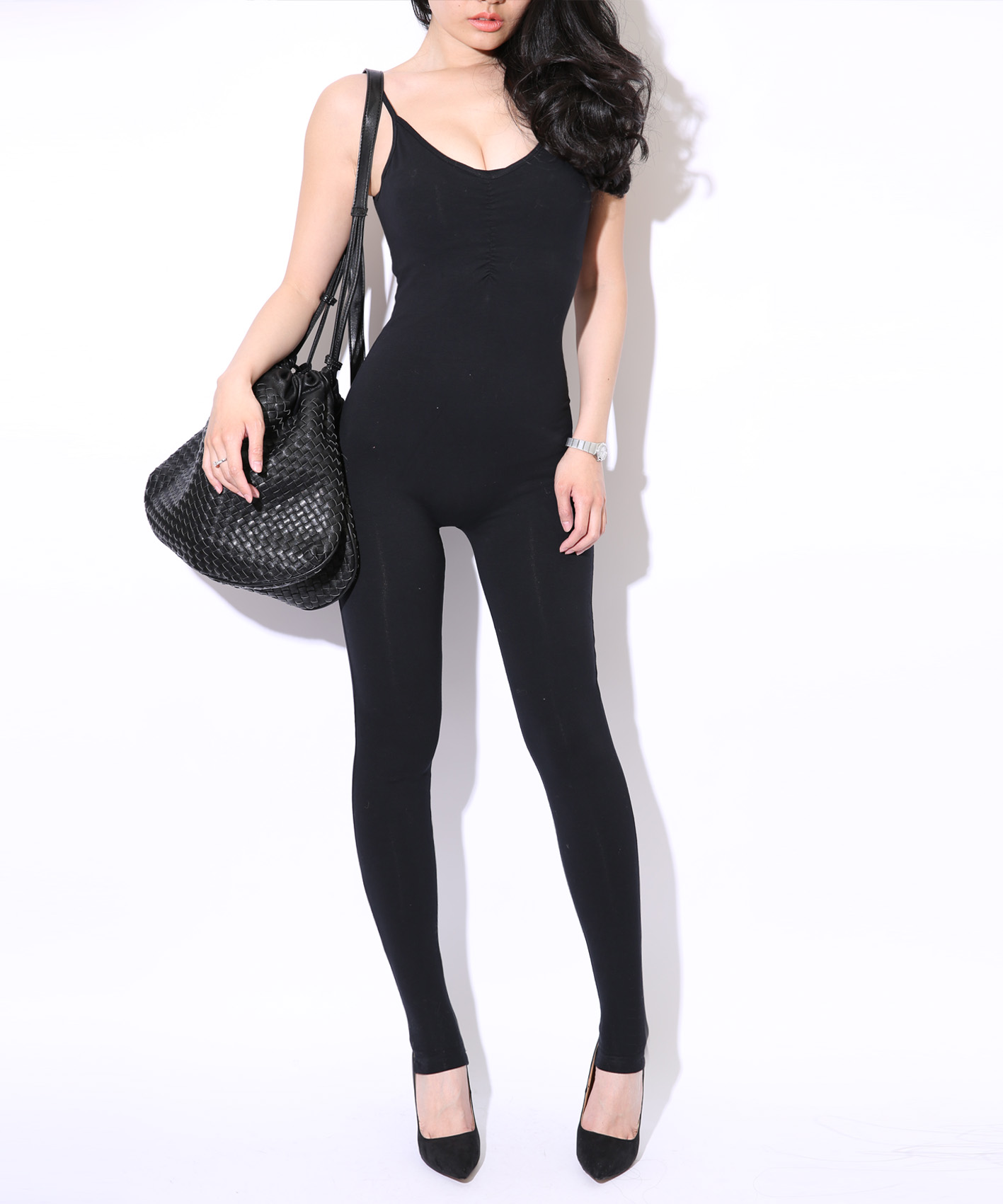2013 Premium Cotton Spandex Sleeveless Bodysuit Seamless Sexy One Size Bodysuit Jumpsuits Leggings For Women Black Body Leggings-inSocks & Hosiery from Apparel & Accessories on Aliexpress.com
