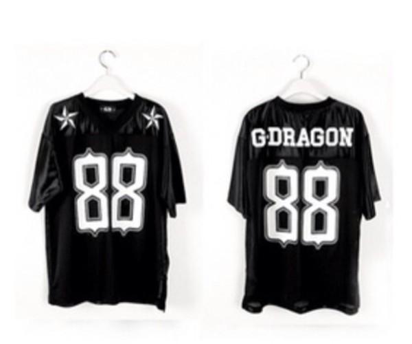 t-shirt 88 swag t-shirt black trendy kpop gdragon gdragon bigbang fashion korean fashion stars rapper