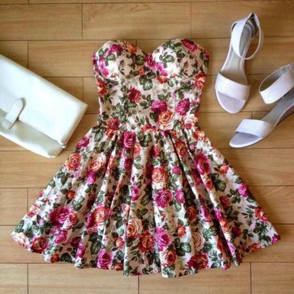 dress pink flowers