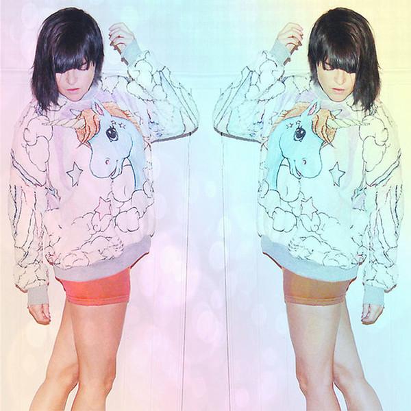 sweater fleece winter sweater fall sweater unicorn unicorn shirt pastel pastel shirt pastel my little pony