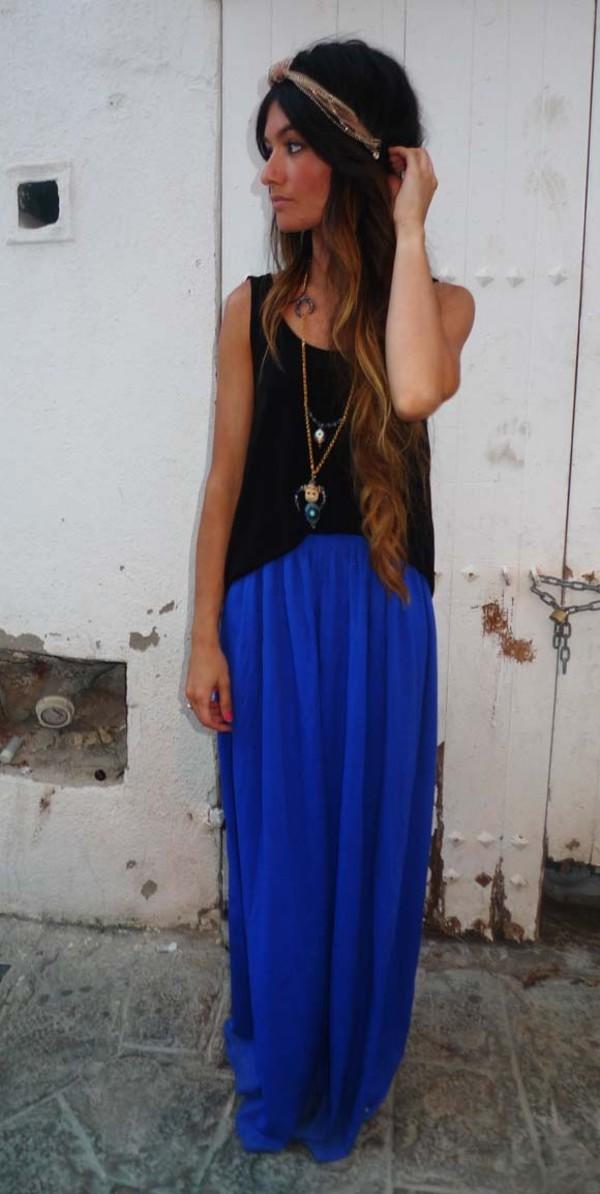 skirt blue cute summer