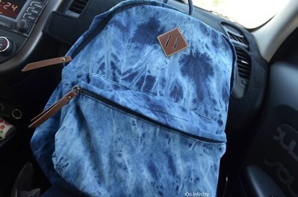 bag jeans bookbag washed out acid wash same design