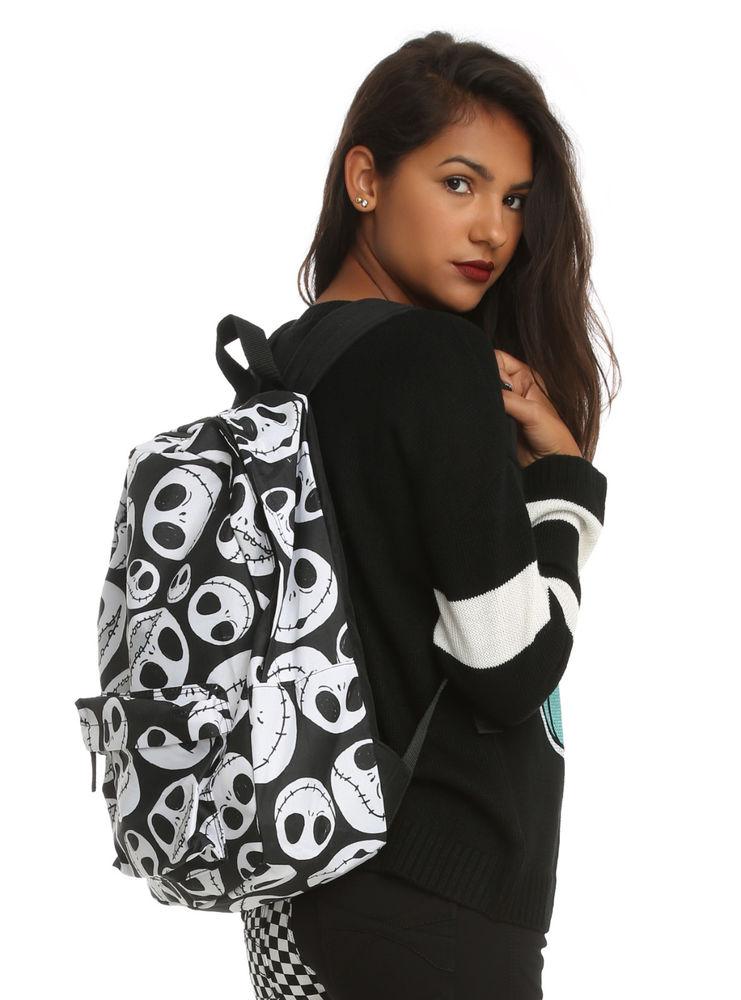 New Disney Nightmare Before Christmas Jack Heads Faces School Book Bag Backpack | eBay
