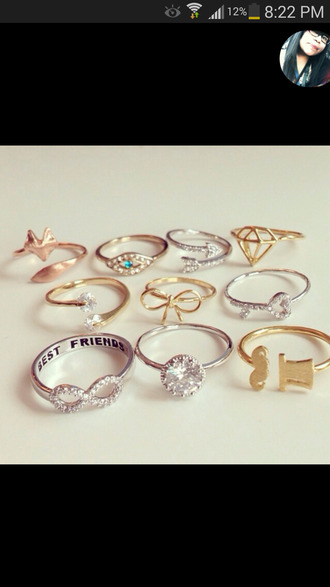 jewels friendship ring bling jewelry infinity bff best friends infinity ring
